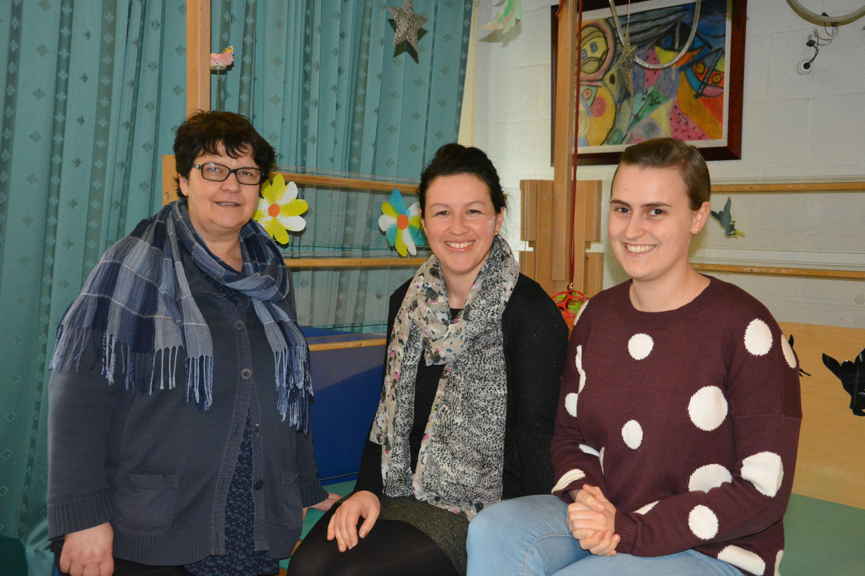 Therapeutencoördinator Griet en logopedisten Annemie en Liese
