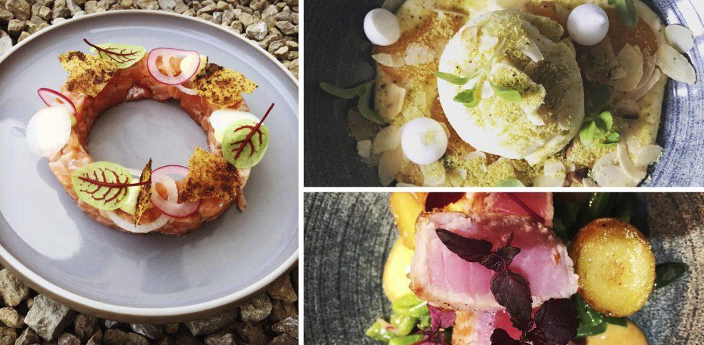 """Enkele gerechten van de bistro """"Pakhuis"""" in Koekelare"""
